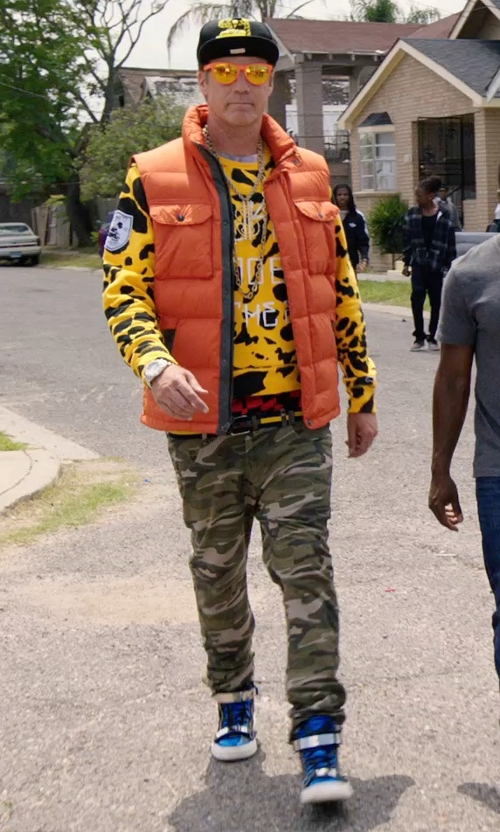 Will Ferrell with Hydrogen Casual Camouflage Pants in Get Hard