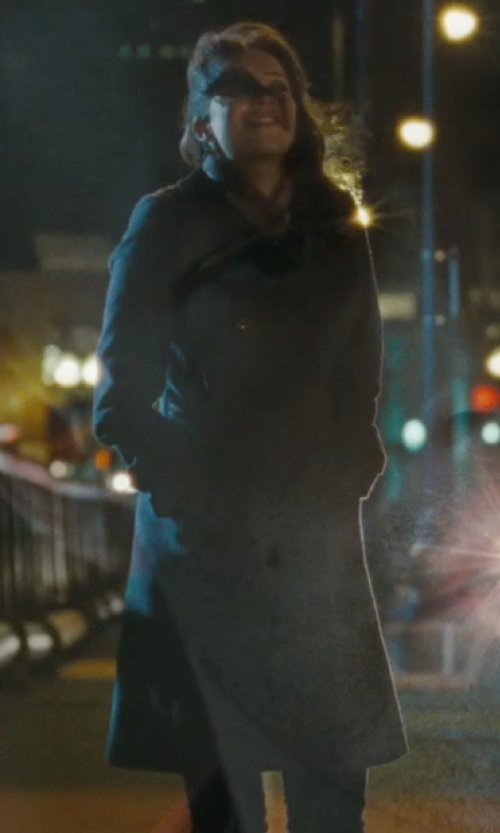 Rebecca Hall with Givenchy Lapel Collar Coat in The Town