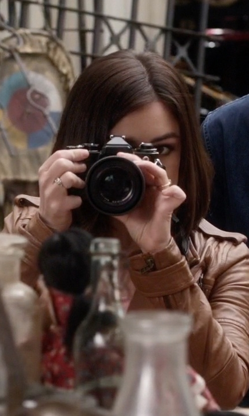 Lucy Hale with Canon Digital Rebel XT DSLR Camera in Pretty Little Liars