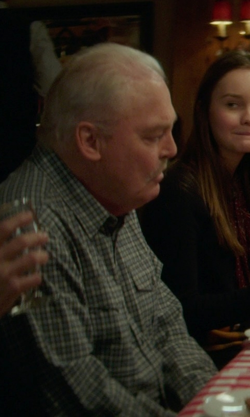 Stacy Keach with Port Authority S642 Mens Tattersall Easy Care Long Sleeve Button Down Shirt in If I Stay