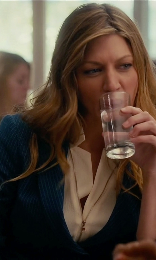 Jes Macallan with Lauren Ralph Lauren Striped Blazer in Mistresses