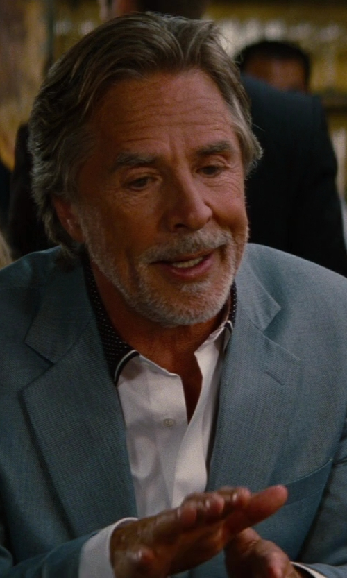 Don Johnson with Dsquared2 Contrast Collar Shirt in The Other Woman