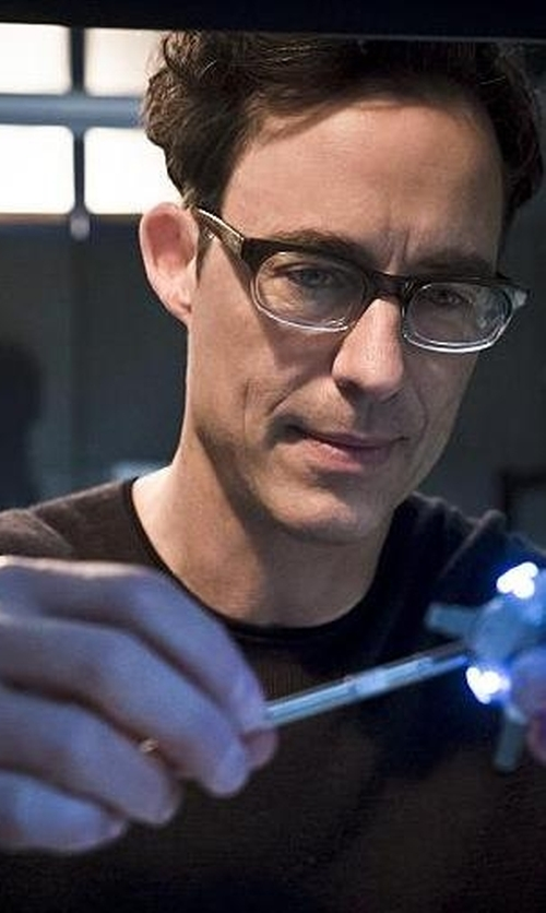 Tom Cavanagh with Alternative Apparel Long Sleeve T-Shirt in The Flash