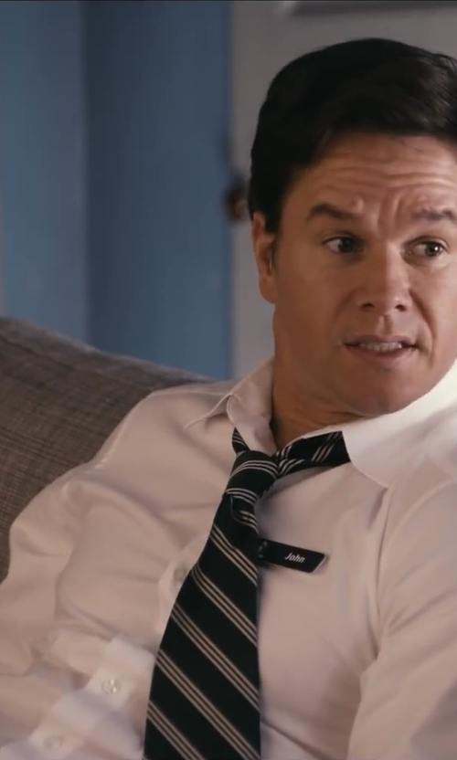 Mark Wahlberg with Theory Slyvain Solid Dress Shirt in Ted