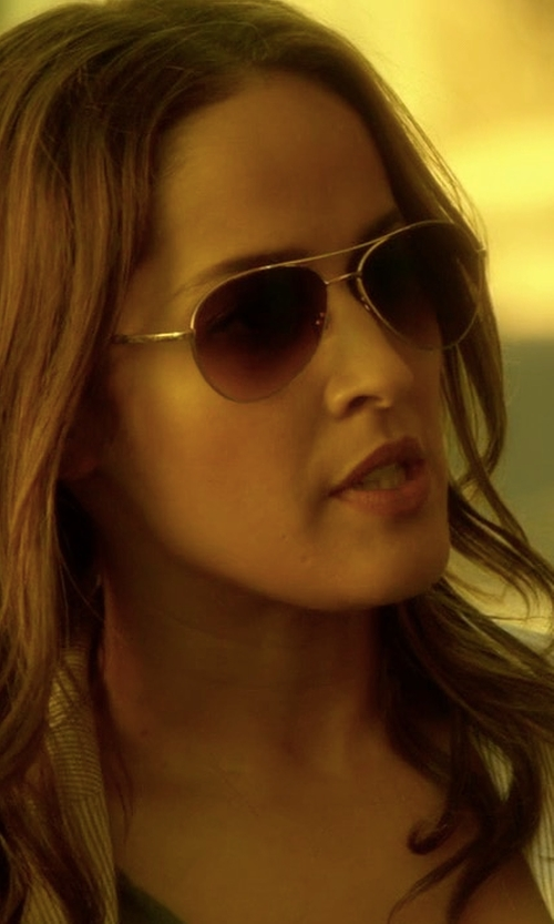 Jaina Lee Ortiz with Michael Kors Pandora Sunglasses in Rosewood