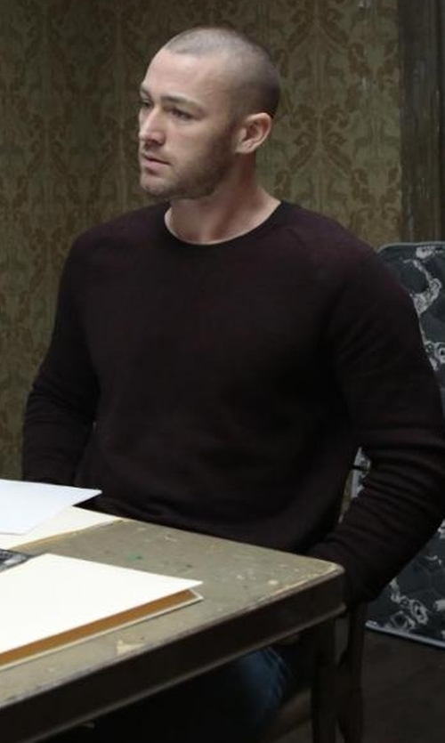 Jake McLaughlin with Theory Donners Cashmere Crewneck Sweater in Quantico