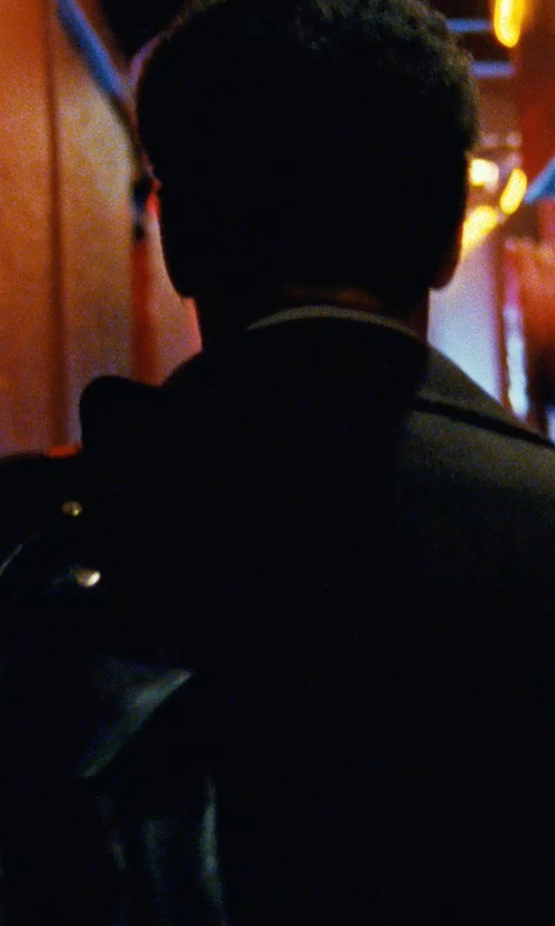 Denzel Washington with Calvin Klein Park Single-Breasted Raincoat in Safe House