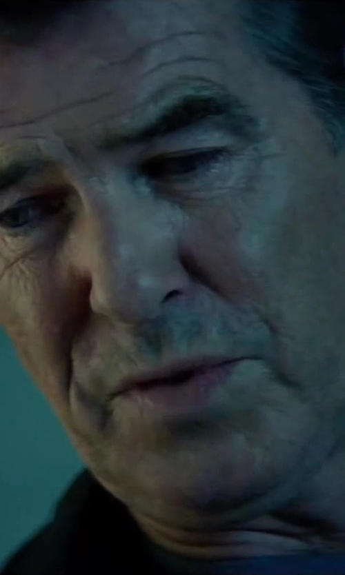 Pierce Brosnan with Gucci Solid Dress Shirt in The November Man
