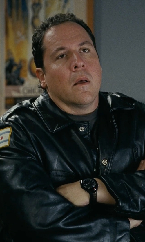 Jon Favreau with Kale Uniform Company Chicago Police Leather Jacket in Couple's Retreat