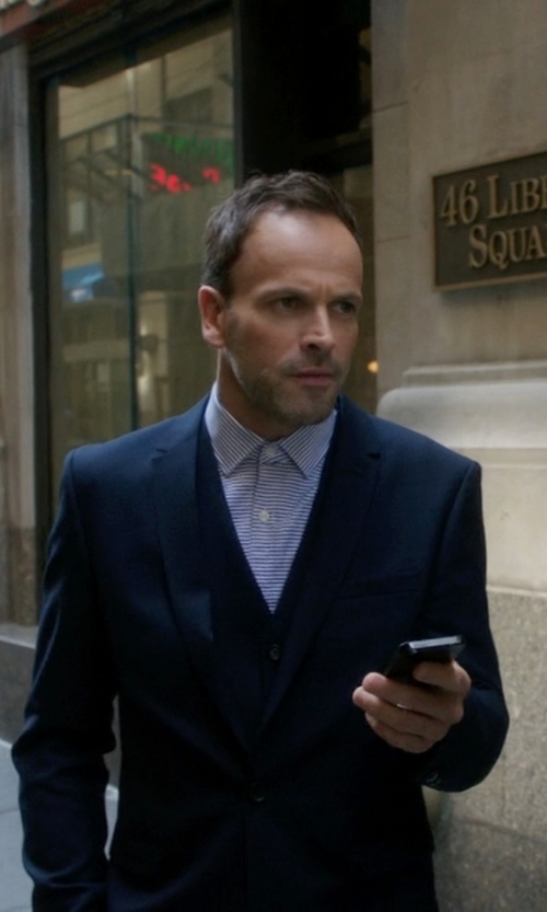 Jonny Lee Miller with Reveres 1949 Single-Breasted Vest in Elementary