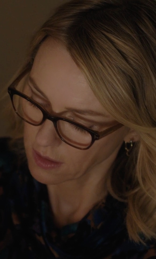Naomi Watts with Tom Ford Cat-Eye Optical Frame Eyeglasses in Gypsy