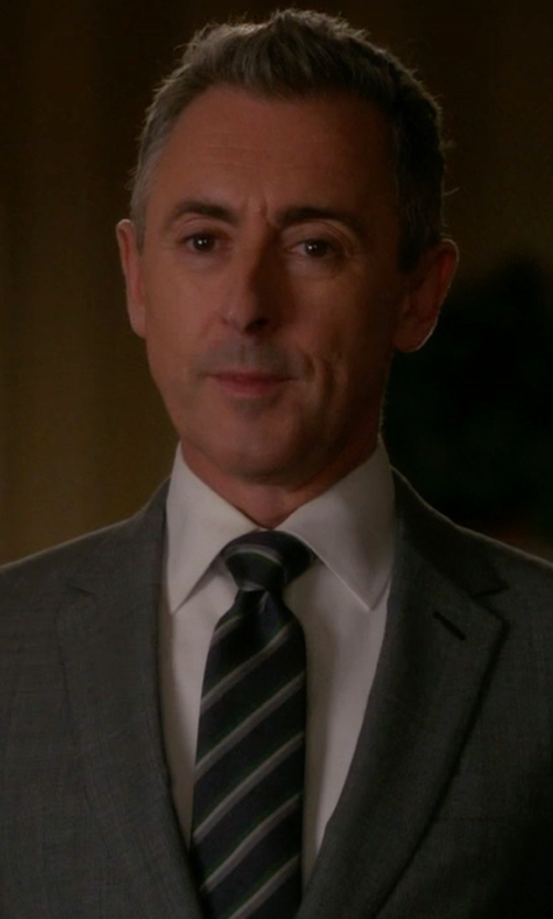 Alan Cumming with John Varvatos Star U.S.A. Traditional Stripe Tie in The Good Wife