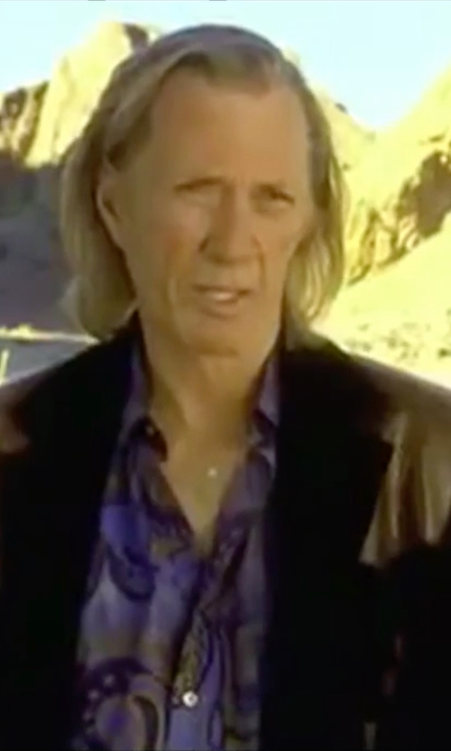 David Carradine with Vince Twill & Faux Leather Blazer in Kill Bill: Vol. 2