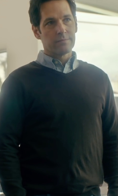 Paul Rudd with Cutter & Buck Broadview V-Neck Sweater in The Fundamentals of Caring