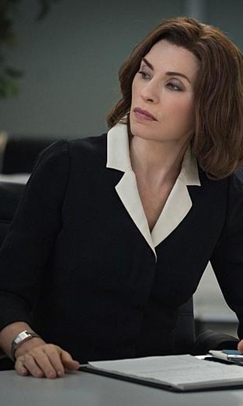 Julianna Margulies with Hermes Heure H Watch in The Good Wife