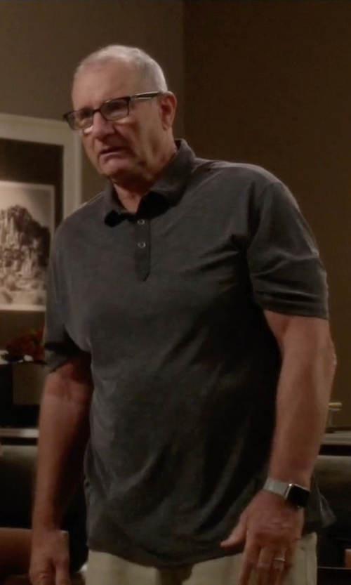 Ed O'Neill with ATM Short-Sleeve Pique Polo Shirt in Modern Family