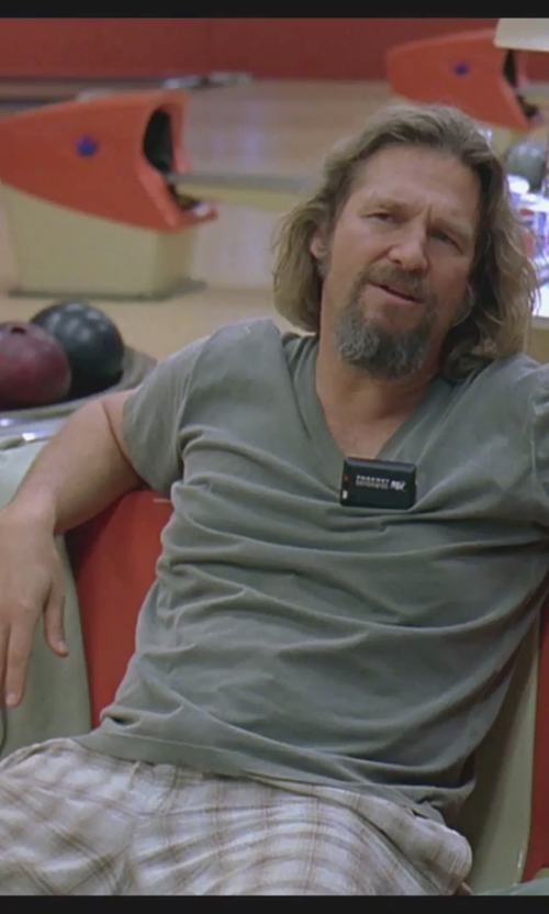 Jeff Bridges with Quiksilver Regent Stack Pv Walk Shorts in The Big Lebowski