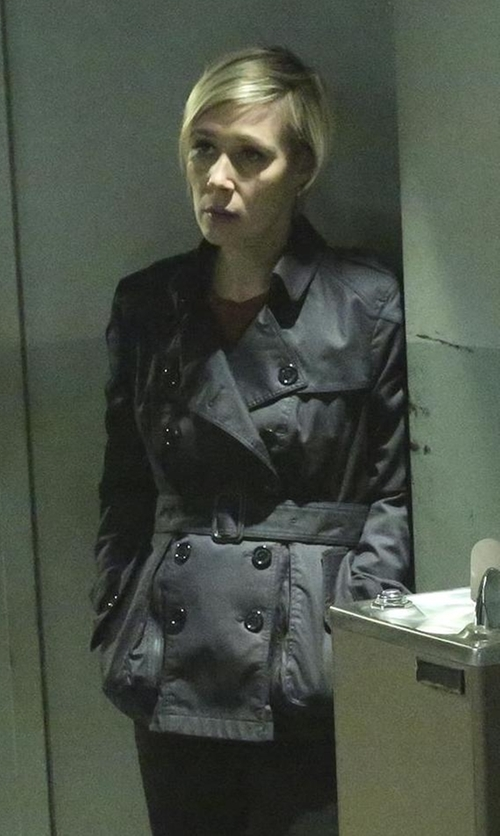 Liza Weil with Burberry Balmoral Trench Coat in How To Get Away With Murder