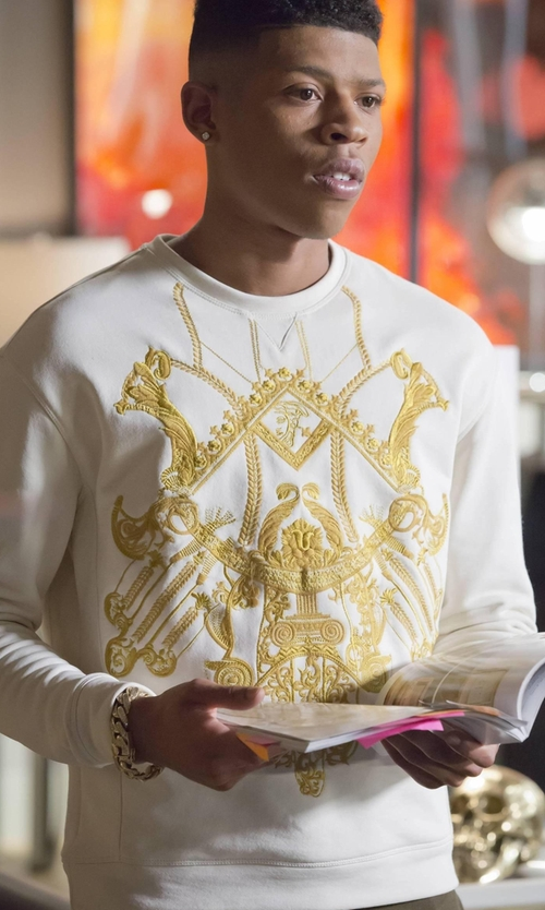 Bryshere Y. Gray with Versace Collection Embroidered Sweatshirt in Empire