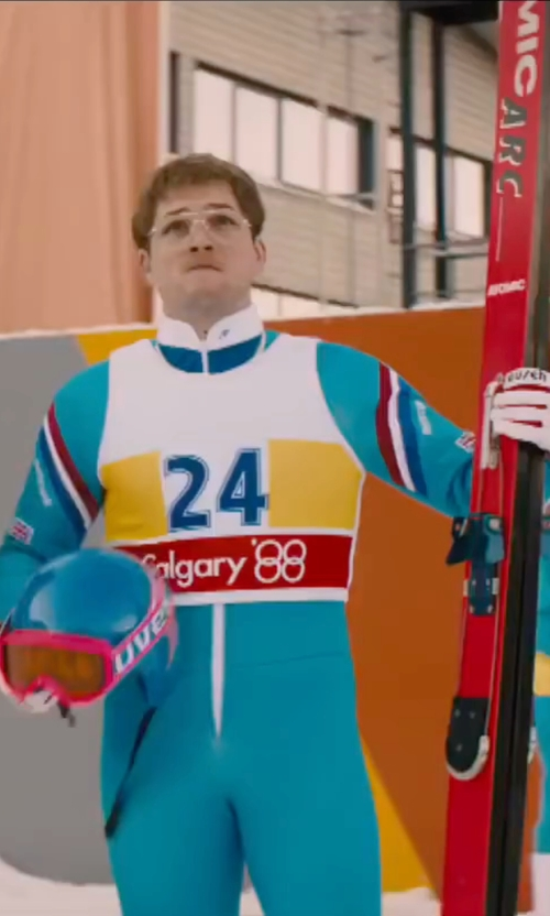 Taron Egerton with POC Skin GS Race Suit in Eddie The Eagle