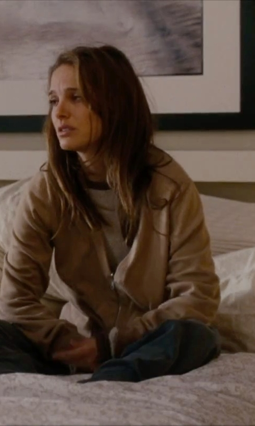 Natalie Portman with Forever21 Classic Bomber Jacket in No Strings Attached