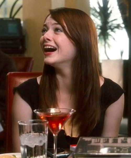Emma Stone with Bella Dress Sweetheart Neck Skater Dress in Crazy, Stupid, Love.