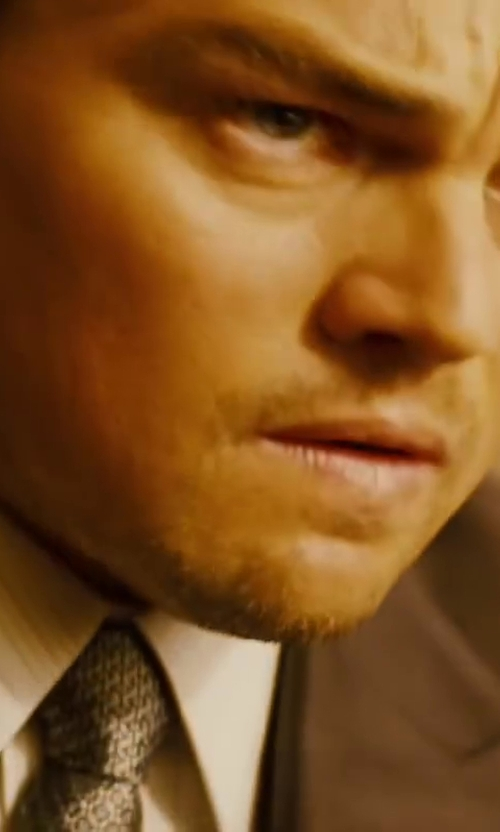 Leonardo DiCaprio with Jefrey Kurland (Costume Designer) Custom Made Geometric Tie in Inception