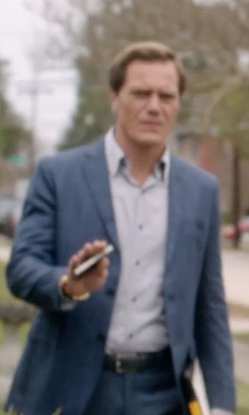 Michael Shannon with Montblanc Textured-Leather Belt in 99 Homes