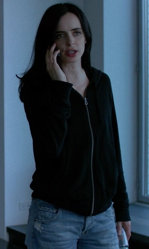 Krysten Ritter with Citizens Of Humanity Emerson Slim Ankle Boyfriend Jeans in Jessica Jones