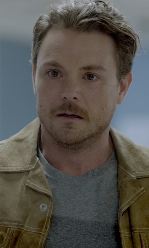 Clayne Crawford with T by Alexander Wang  Classic Short-Sleeve Crewneck T-Shirt in Lethal Weapon