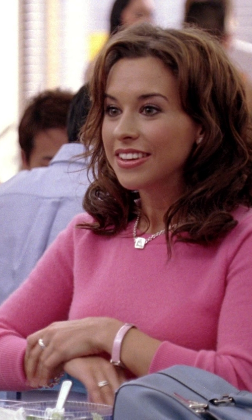 Lacey Chabert with Polo Ralph Lauren Cashmere Crewneck Sweater in Mean Girls