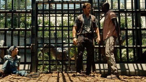 Omar Sy with Kuhl Renegade Jeans in Jurassic World