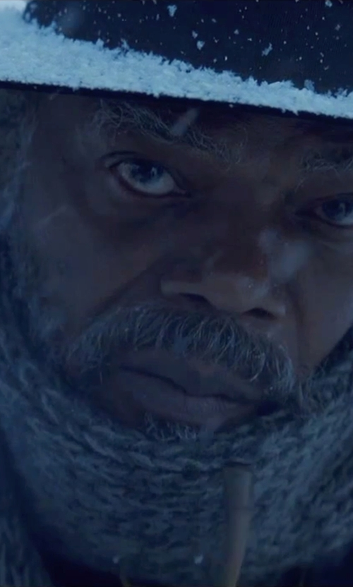 Samuel L. Jackson with Emporio Armani Wool Blend Knit Scarf in The Hateful Eight