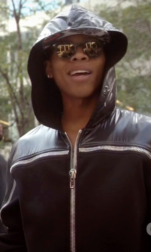 Bryshere Y. Gray with Givenchy Nylon Neoprene Zip-Up Sweatshirt in Empire