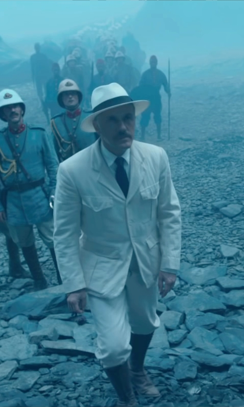 Christoph Waltz with Dsquared2 Two Breast Pocket Blazer in The Legend of Tarzan