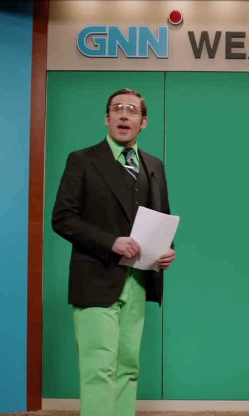 Steve Carell with Perry Ellis Classic Fit Gifford Silk Striped Tie in Anchorman 2: The Legend Continues