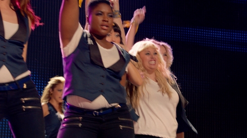 Ester Dean with J.Crew Patent Leather Belt in Pitch Perfect 2