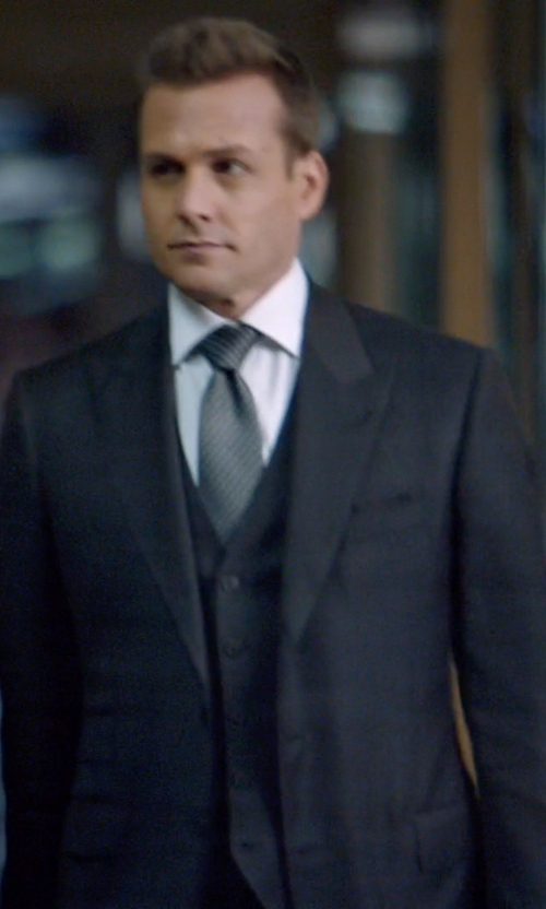 Gabriel Macht with Tom Ford Peak Lapel Two Button Suit in Suits