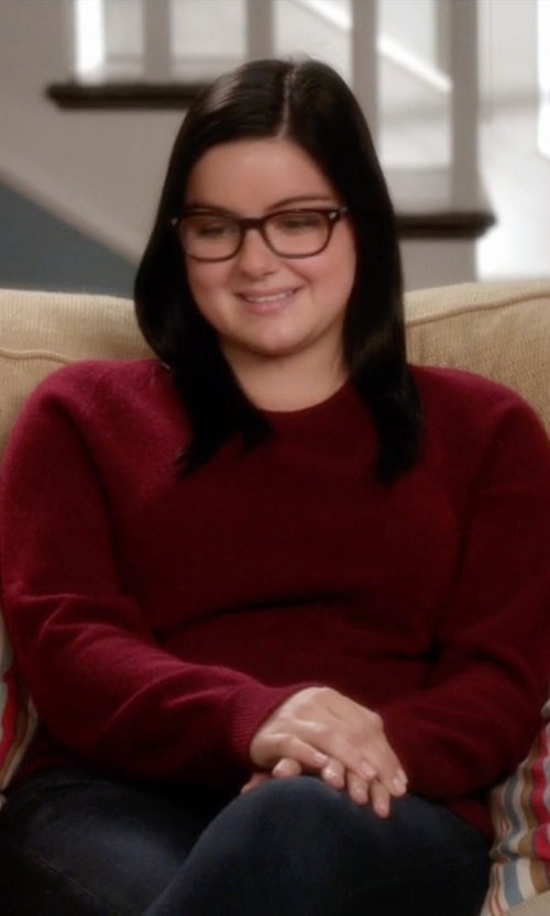 Ariel Winter with Tom Ford Rounded Square Optical Glasses in Modern Family