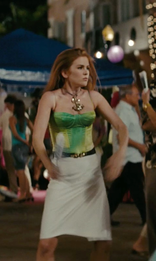 Isla Fisher with Oscar De La Renta Bustier Tank Top in Confessions of a Shopaholic