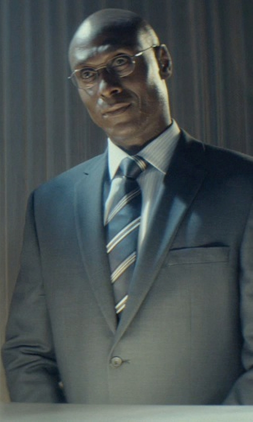 Lance Reddick with Tom Ford Shiny Metal Wood Effect Eyeglasses in John Wick