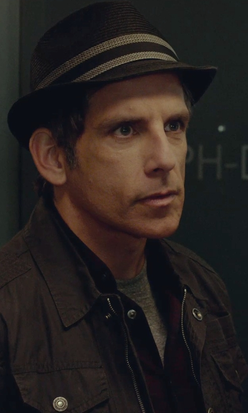 Ben Stiller with Hugo Stretch Cotton Button Down Shirt in While We're Young