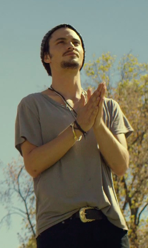 Shiloh Fernandez with Lucchese Goat Leather Belt in We Are Your Friends