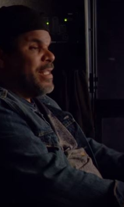Luis Guzmán with Asos Dark Wash Denim Jacket in Roadies