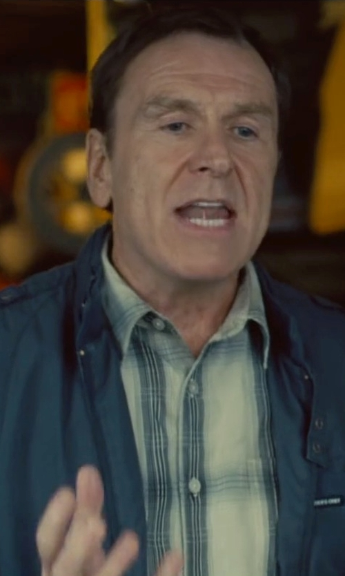 Colin Quinn with Tommy Bahama Island Modern Fit Plaid Shirt in Trainwreck