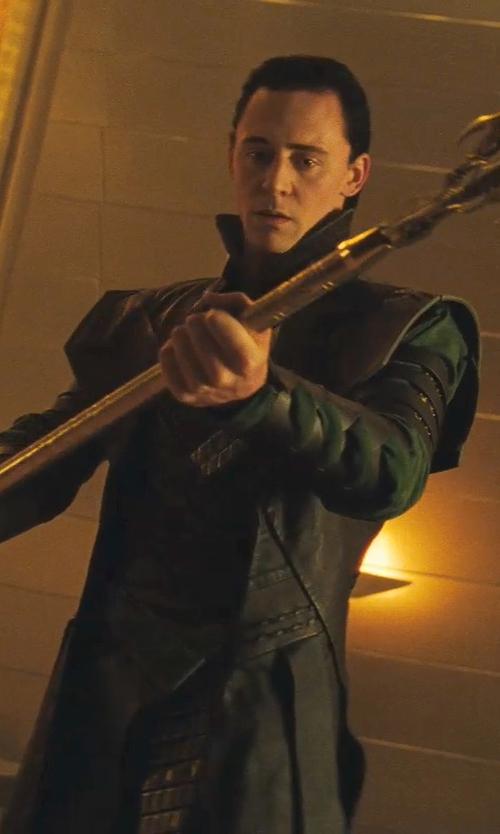 Tom Hiddleston with Alexandra Byrne (Costume Designer) Custom Made 'Loki' Costume in Thor