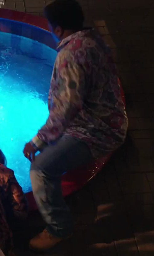 Craig Robinson with John Deere Men's Steel Toe Work Oxford in Hot Tub Time Machine 2