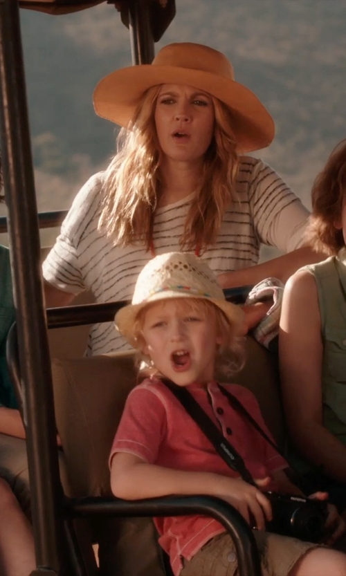 Drew Barrymore with T-explorer Ladies Bohemia Simple Solid Color Straw Hat in Blended