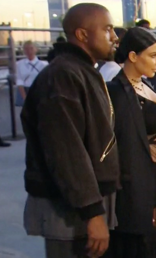 Kanye West with Yeezy Bomber Jacket in Keeping Up With The Kardashians