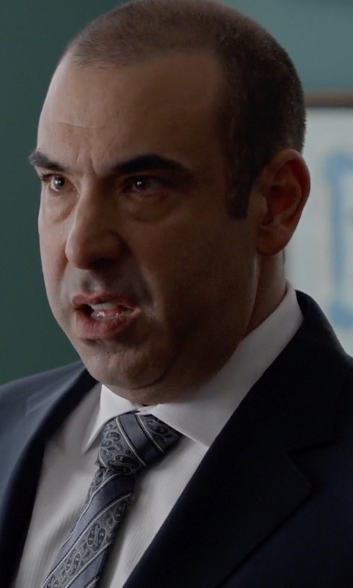 Rick Hoffman with Van Heusen Paisley Striped Tie in Suits